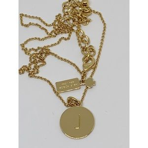 """Kate Spade One in a Million Initial """"J"""" Necklace"""